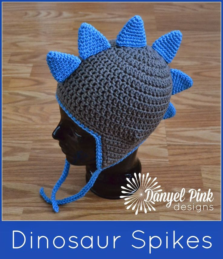 Danyel Pink Designs: FREE CROCHET PATTERN - Dinosaur Spikes Hat