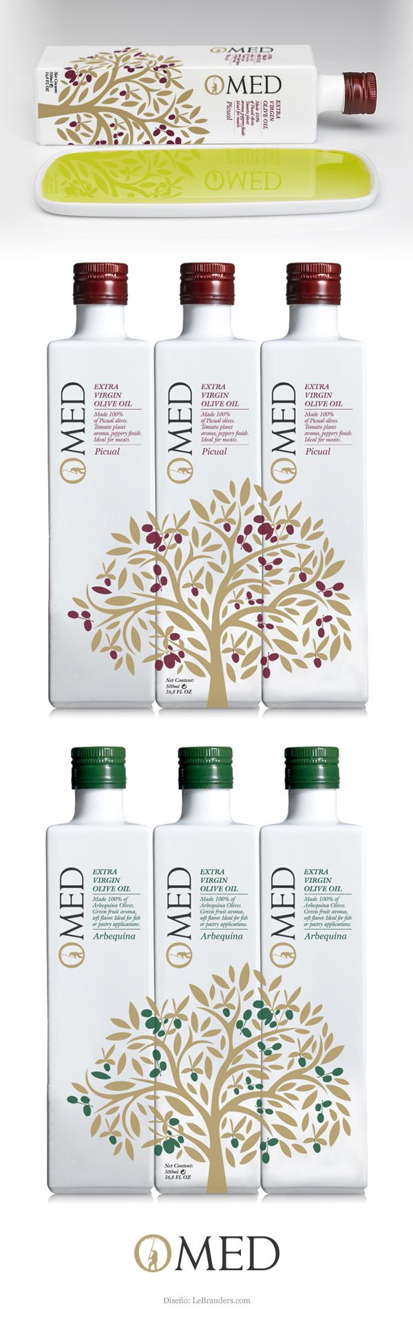 Packaging para el 10º Aniversario de Omed - Designed by LeBranders. Nice olive oil packaging designs PD