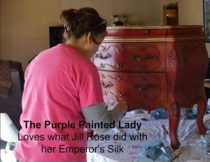 ~Emperor's Silk CHALK PAINT ...The Purple Painted Lady loves what Jill E Rose did