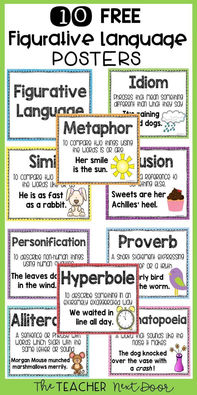 Classroom Management Figurative Language Figurative Language Free F In 2020 Figurative Language Posters Teaching Figurative Language Figurative Language Worksheet