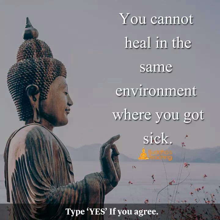 You have to go somewhere else to get a better sense of feeling before you start the healing process.