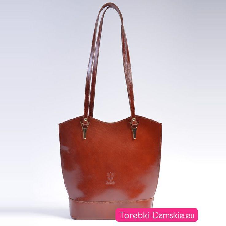 Torebki skórzane włoskie: model 2014. Torebka w pięknym odcieniu koloru brązowego (czekoladowy). http://torebki-damskie.eu/skorzane/485-skorzana-torebka-na-dlugich-paskach-kolor-braz-czekolada.html #torebki #moda