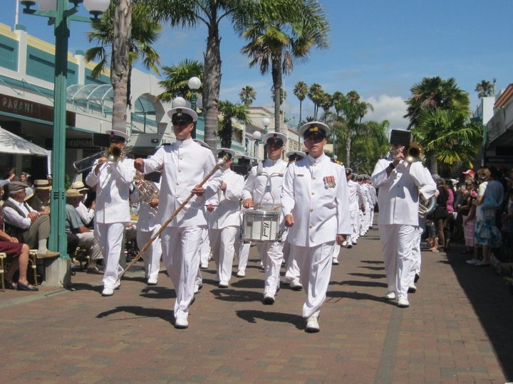 The Navy joining in the Art Deco Weekend's festivities!