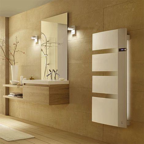 Radiateur seche-serviettes SENSIUM 1750W blanc mât a droite - KKSVSKX - Plomberie sanitaire chauffage