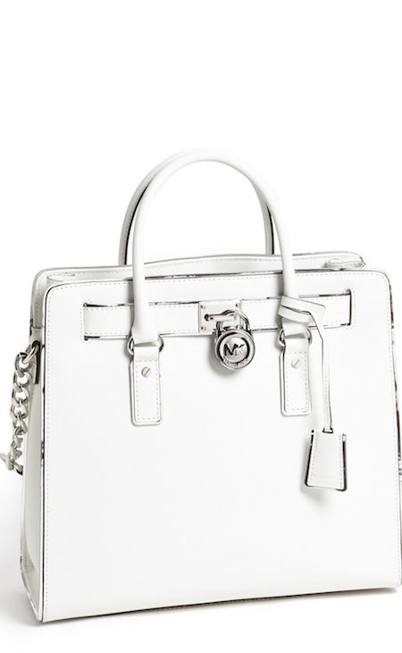 Michael kors large leather Hamilton in white. I purchased this purse a couple months ago and I absolutely love it!