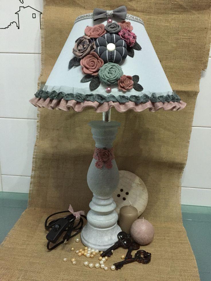 lampada grigio/rosa
