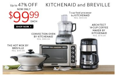 The Bay Canada: Only $99.99 For Select KitchenAid & Breville Products