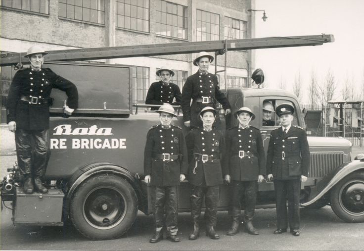 1945 Bata Factory Fire Brigade Skoda Fire Engine in East Tilbury, UK