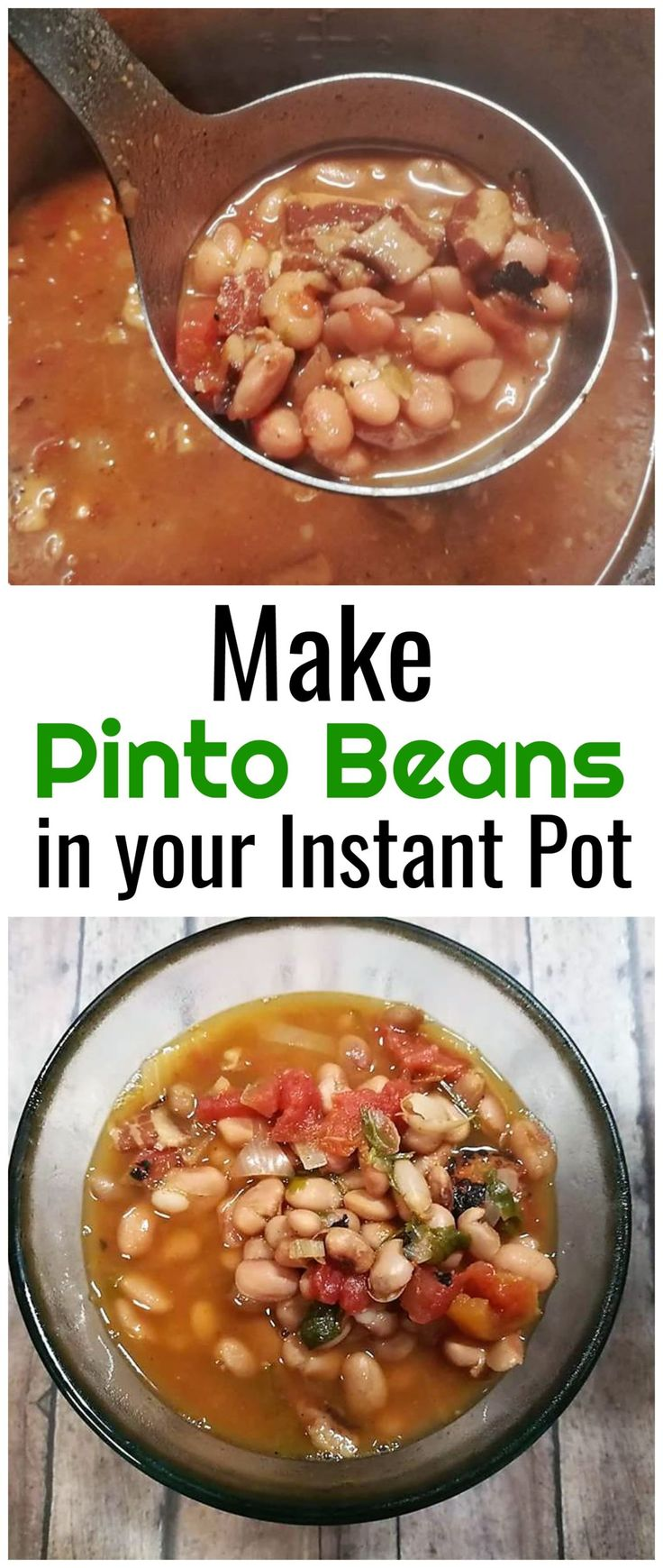 My favorite cold weather meal is pinto beans with cornbread So I am going to share with you today how I did Pinto Beans in Instant Pot.