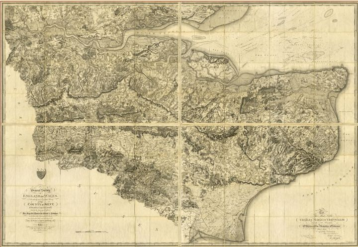 The First Ordnance Survey Map