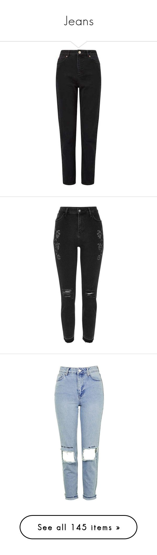 """Jeans"" by tacoxcat ❤ liked on Polyvore featuring jeans, miss selfridge, black wash jeans, miss selfridge jeans, pants, bottoms, denim, black, sale and women"