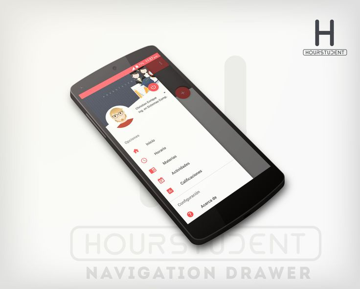Navigation drawer Hourstudent