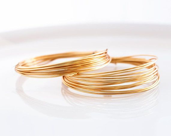 2962 Gold wire 16 gauge Gold jewelry wire 1.25 mm Non