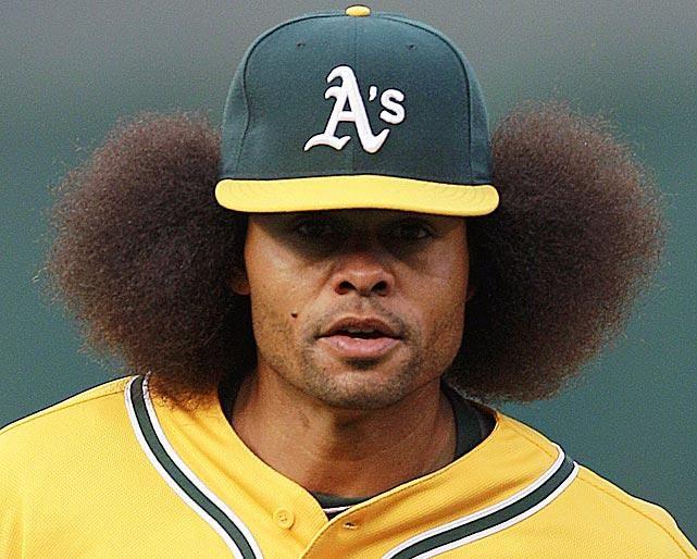"Covelli Loyce ""Coco"" Crisp #Baseball #Hair"