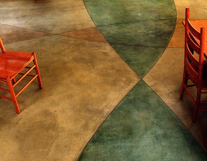 Stained Concrete Floor + Radiant Heat.