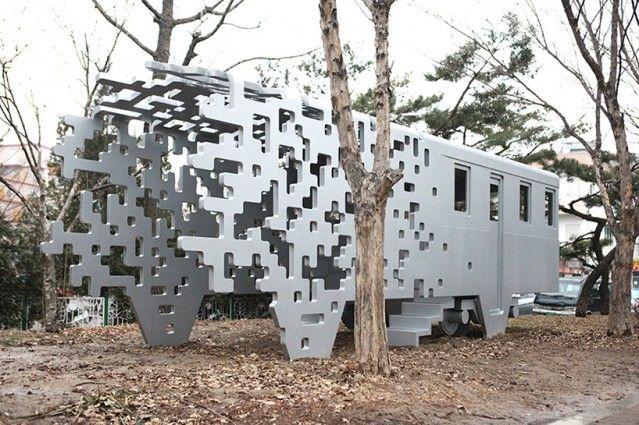 Pixelate Train Sculpture