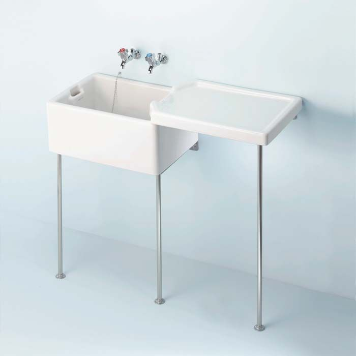 Armitage shanks belfast sinks available in two sizes, complete with legs and…