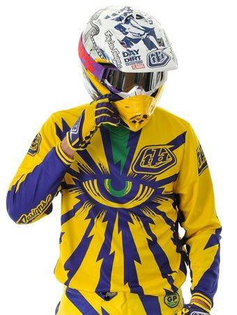 Casacca MX Troy Lee Designs 2013 GP Cyclops Giallo-Porpora