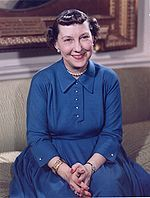 Mamie Geneva Doud Eisenhower  November 14, 1896-November 1, 1979  Wife of President Dwight D. Eisenhower  First Lady from 1953-1961