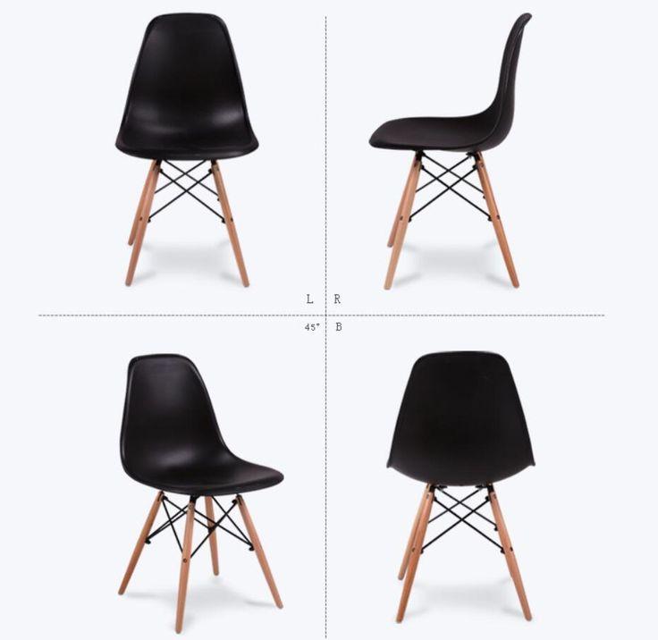 LANSKAYA 2 Unidades del Sistema de La Manera Simple De Plástico de Ocio Creativo Diseño De Café Silla Sillas de Comedor Con Estilo Contemporáneo
