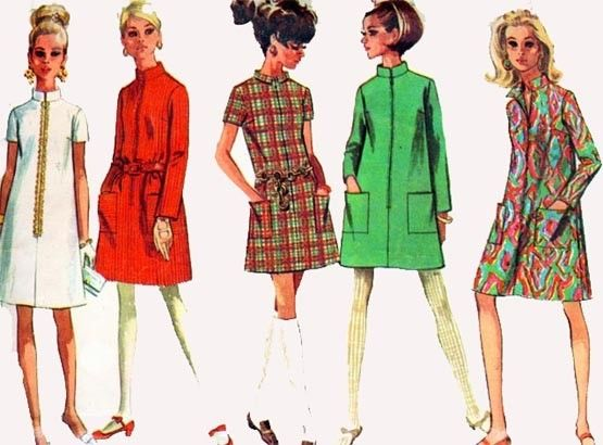Vintage 60s Simplicity 7366 MOD TWIGGY Mini Step in by sandritocat,