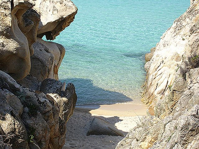 tiny almost private beach, Kavourotrypes, Halkidiki