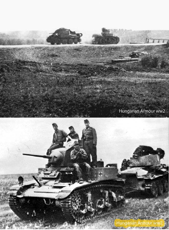 Captured USA Stuart in hungarian service Don regio. 1942.  Zsákmányolt amerikai gyártmányú Stuart harckocsit használnak a sérült magyar harcjárművek bevontatására a keleti fronton. 1942.