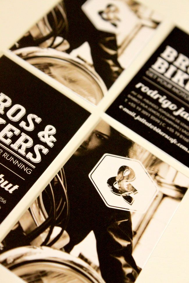 Bros & Bikers Cafe identity design  #print #Iprinthis #white #business #Australia #Melbourne #printing #company #envelope #flyers #stickers #coupons #stickers #tickers repined by IPrinthis