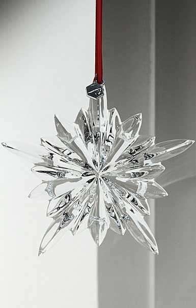 Baccarat courchevel clear snowflake 2013 ornament