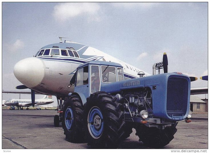 Il-18 es Dutra 4k tractor pulling MALEV Airlines prop airplane , 50-60s Hungary - Delcampe.com