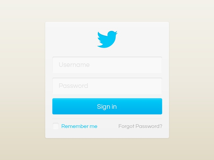 Twitter sign-in