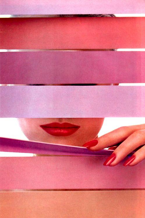 Revlon. American Vogue, June 1984. #Maquillaje para labios. http://www.tucosmetica.es/tratamiento/maquillaje/labios/