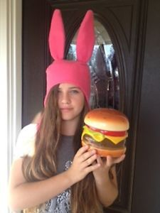 BOB'S BURGERS LOUISE BELCHER HAT - PINK BUNNY EARS HAT - SIZES: SMALL, MED & LGE