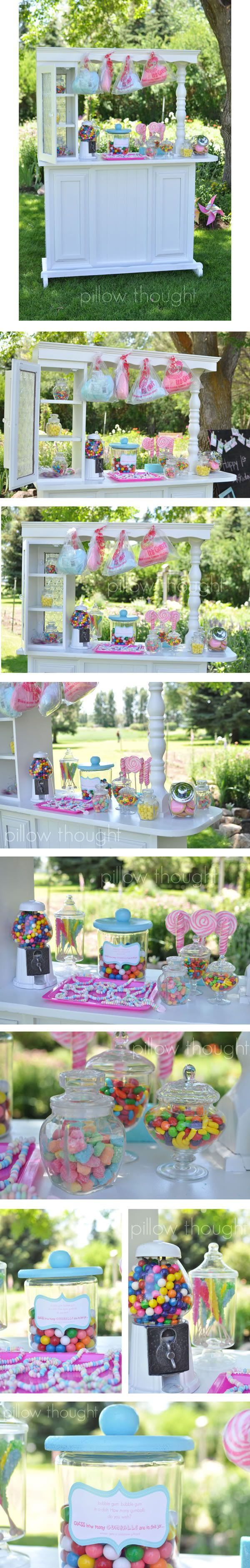 Pillow Thought: Sweet Shop Birthday Details