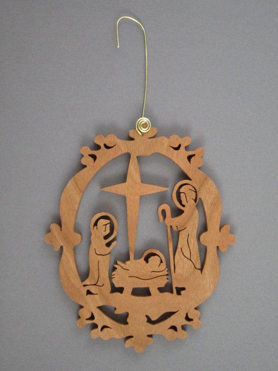 Crèche de Noël élégant par jimswoodstudio sur Etsy