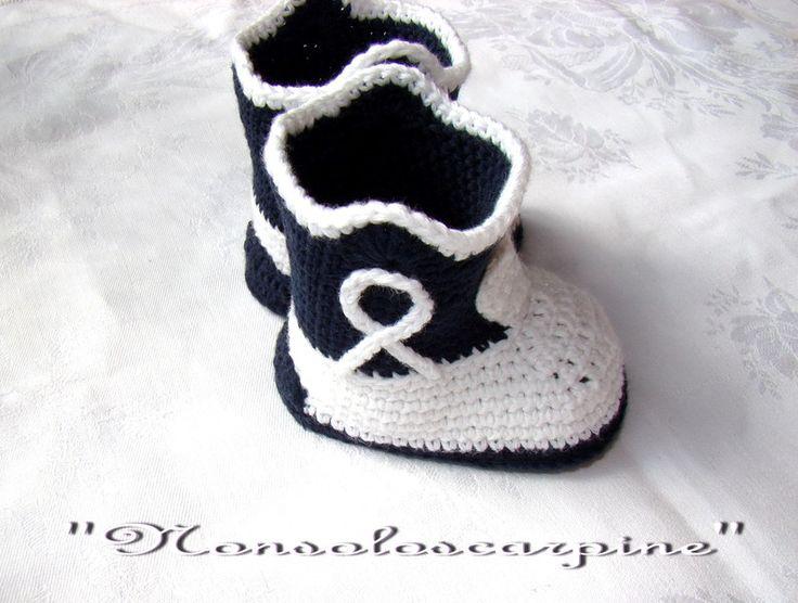 """Scarpine per neonati - Gli stivaletti per neonato """"cowboy"""" - un prodotto unico…"""