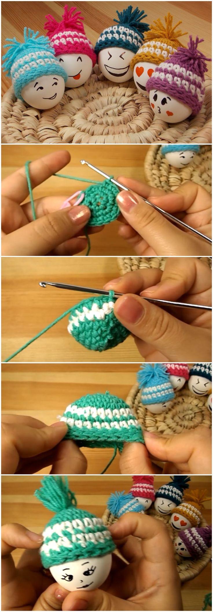 How To Crochet Easter Eggs Hat