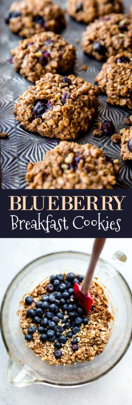 Blueberry oat breakfast cookies packed with 9 happy and wholesome ingredients to power you through the day. 1 BOWL cookie recipe on sallysbakingaddiction.com