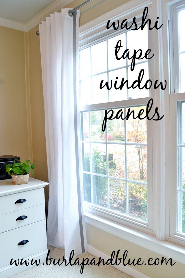 washi tape window treatments