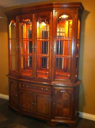 Ethan Allen Dining Room Set With China Cabinet Buffet Table For Sale In Calgary Alberta