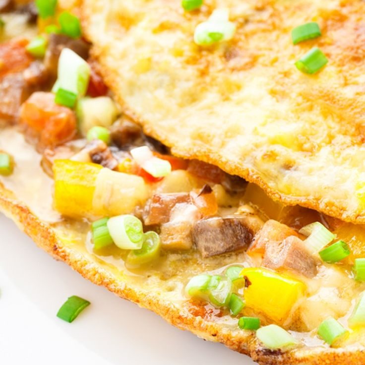 This vegetable omelette recipe uses an assortment of vegetables, but you can make it with whatever you have in your kitchen, just be sure to chop the veggies small.