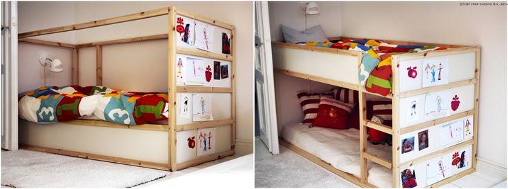 Atunci când cei mici au prieteni în vizită, pătuțul KURA se poate transforma într-un pat supraetajat. Trebuie doar să îl întorci și să mai adaugi o saltea. www.IKEA.ro/pat_reversibil_KURA