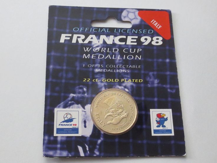 Italy Football 22 Carat Gold Plated Medallion Coin 1998 France FIFA World Cup  | eBay