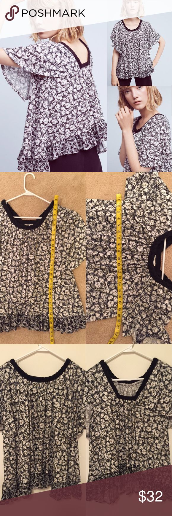 Anthropologie Jacquen swing top by Deletta Size small. Gorgeous printed swing top with braided detail.❌ trades or off-site transactions.I offer a variety of sizes in my closet therefore I do NOT model items.•I will counteroffer with the best value I can give at the time•I have 2 littles &🚑 an illness that sometimes requires serious medical attention and alot of hospital visits.📬Sometimes shipping takes a little longer because of my illness but usually I get it out within 2 days.Thank you…