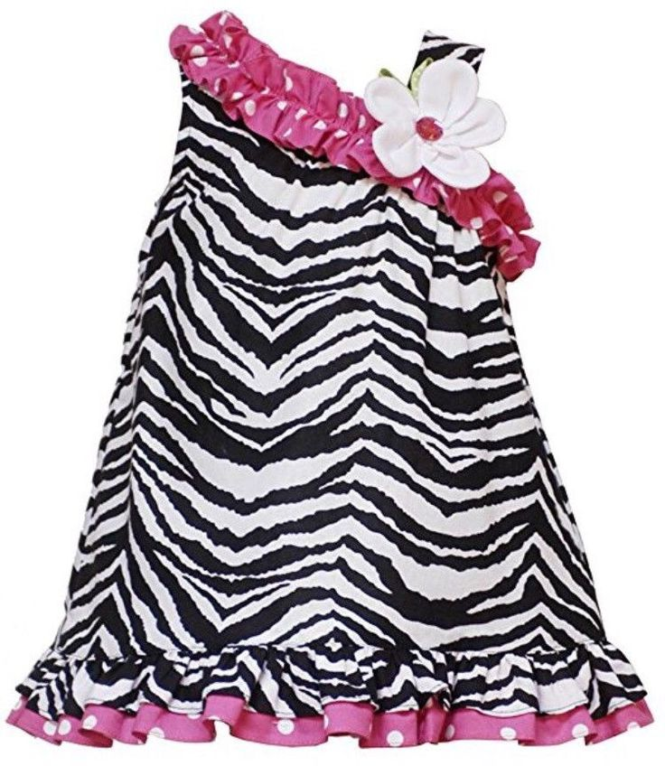 RARE EDITIONS Baby Girls 24M Zebra Print Dress Black White Pink NEW    eBay