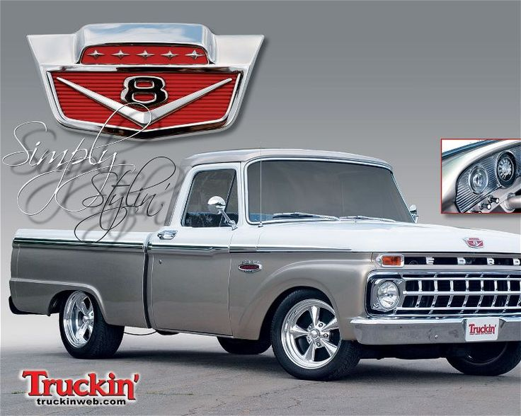 #3 - 1965 Ford F-100. Paid 1000$. My truck was this colour scheme but all original faded