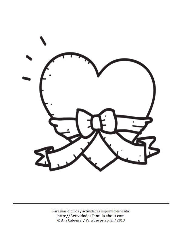 10 corazones para imprimir y colorear