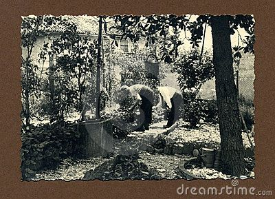 This original antique photograph is taken in Italy probably in 1950.