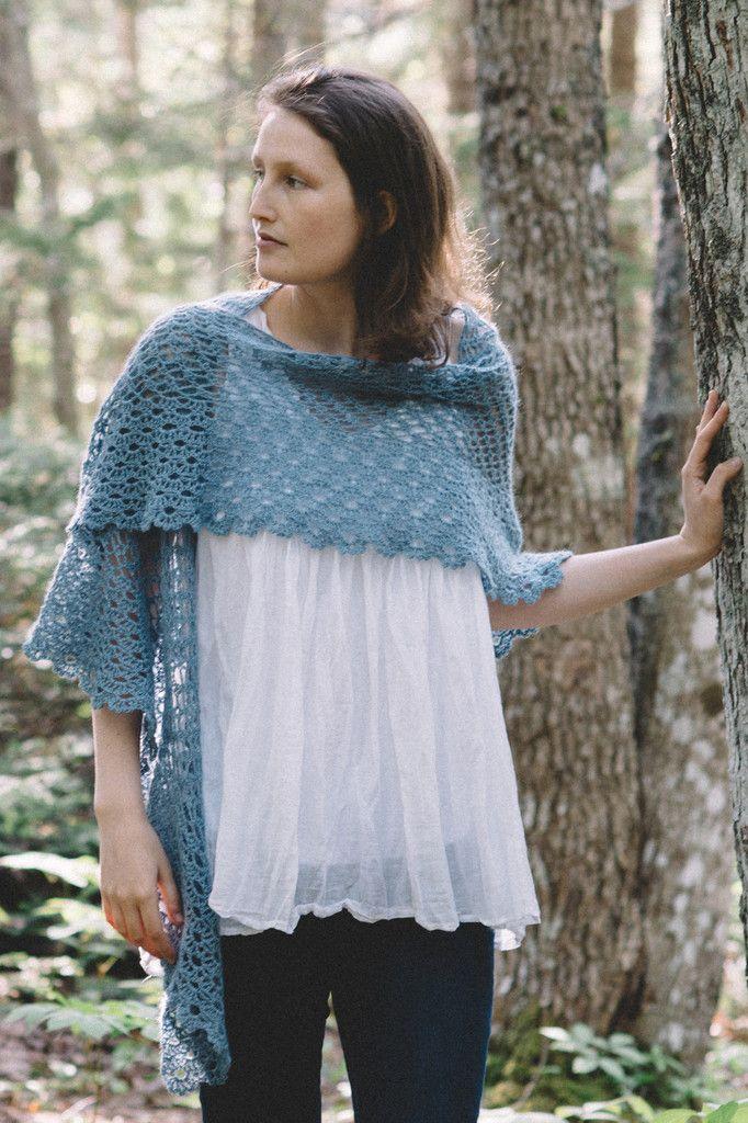 gated shawl, crochet design by rebecca velazquez / in quince & co. piper