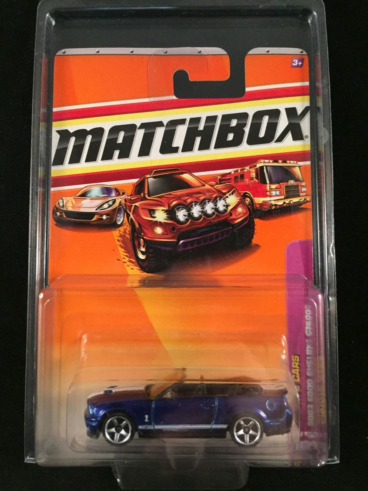 2010 Matchbox Sports Cars 2007 FORD SHELBY GT 500 Convertible Blue  w/ PROTECTO  #Matchbox #Ford
